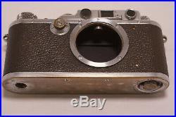 Leica III mit Elmar 3,5/50 und Spiegelkasten mit Balgen von Sperling/Berlin