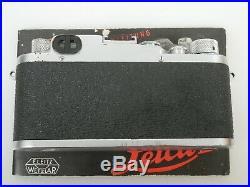 Leica IIIC Sharkskin mit with Elmar 3,5/50 + Anleitung manual Original Zustand