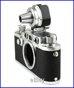 Leica IIIF Black Dial Vintage 35mm Rangefinder Camera with Case & Multi-Finder