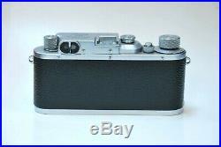 Leica IIIb Chrome 35mm Camera w Summar 50mm f/2 Lens 5cm 12 film vintage Leitz