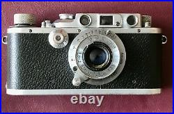 Leica IIIb Vintage 1937 Rangefinder Camera With 50mm f3.5 Elmar & Leather Case