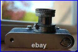 Leica IIIc (1950) 5cm Summitar lens, VIOOH finder and Hardback manual