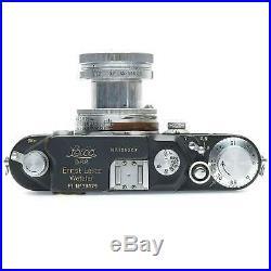 Leica IIIc (Grey) Luftwaffen-Eigentum Camera with 5cm f2 Summitar & Case (Defaced)
