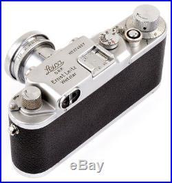 Leica IIIc Nr. 374607 red curtain + Leitz Summar 5cm 12 Nr. 497843 TOP & CLEAN