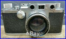 Leica IIIf 3f WORKING 1950/51 35mm Camera & 1942 WW2 Summitar 12 Lens & Case
