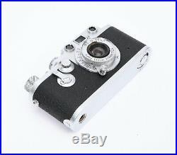 Leica IIIf DBP Ernst Leitz GMBH Wetzlar Camera with Leitz Elmar f=5cm 13.5 Lens