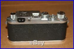 Leica IIIf Vintage 35mm Camera & Summitar 5cm 12 Lens DRP Germany Red Dial