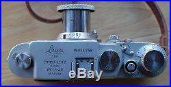 Leica IIIg 35mm Rangefinder Camera with Leitz 5cm f3.5 Red-Scale Elmar Lens