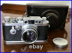Leica IIIg 35mm Vintage Film Camera Outfit With 50mm f2 Summicron Lens & ER Case