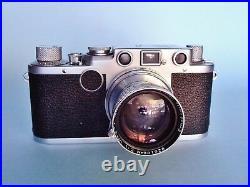 Leica IIf Red Dial 35mm Camera with Ernst Leitz Westlar Summitar Lens f=5cm 12