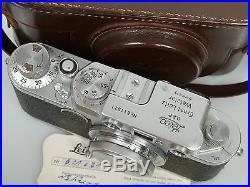 Leica IIf mit with Elmar 3,5/50 Prüfzertifikat Leica mit leichtem Verschluss