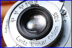 Leica Iiif Red Dial Rd Self Timer St #798824 Elmar 5cm F/3.5 50mm Ltm - Ex+