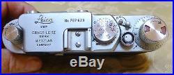 Leica Leitz 2F IIIF Camera # 787623 from 1955 CLA'd new Leather Wetzlar
