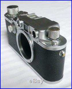 Leica Leitz 3C IIIC Camera # 396636 from 1945 Wetzlar CLA'd last week Ware time