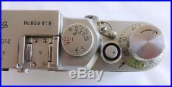 Leica Leitz 3G Camera # 859819 from 1957 6 Month Warranty CLA'd Wetzlar