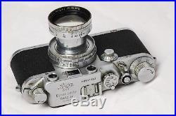 Leica Leitz IIIC Rangefinder 50mm 5cm F/2 Summitar Screwmount Lens Complete Rare
