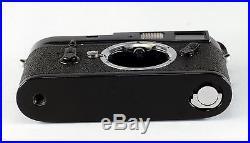 Leica M 4, #1266015, black enamel, in original box with instructions