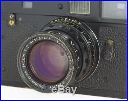 Leica M2 Camera Original Black Paint #949052 with Summicron 2/50 mm #1587484