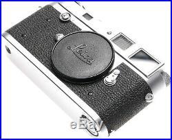 Leica M2 Press release version 35mm film rangefinder camera chrome body