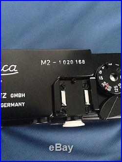 Leica M2 Professionally Repainted BLACK 35mm Rangefinder Film Camera Body Only