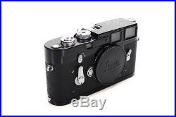 Leica M3 Black 1959 Professional Rangefinder Camera-Near Mint