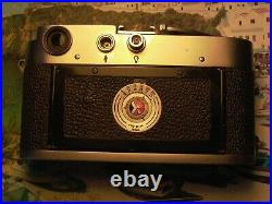 Leica M3 DS # 755673 & 1/2 case bottom Used Tested all working