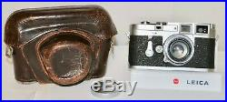 Leica M3 DS With 5cm f/2 Summicron Wetzlar, Germany 1954 Just Serviced