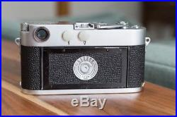 Leica M3 DS vintage 35mm RF camera with 50mm Summicron f/2 lens + light meter