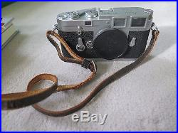 Leica M3 Double Stroke Chrome Camera Body Ernst Leitz Wetzlar Germany Vintage