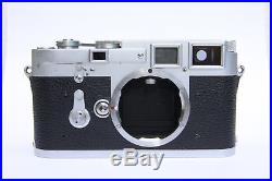 Leica M3 Double Stroke Classic Camera recent CLA excellent working condition