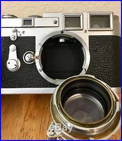 Leica M3 Double Stroke Summarit 5cm 11.5 Lens 50mm Film Camera Case Filter