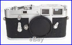 Leica M3 Single Stroke Body Ser. # 1,066,576 New Curtain, CLA'd Works perfectly