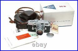 Leica M3 camera Summicron 2/50 Original box manual case set f2 50mm