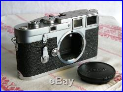 Leica M3 double stroke camera body with case, box, papers #784xxx 1955 Free EMS