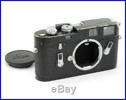 Leica M4 #1182648 Rangefinder Film Camera Body Black repaint