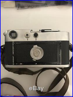 Leica M4 35MM Rangefinder with Summicron Collapsible 50MM f2 lens