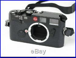 Leica M6 35mm Range Finder Black Body +Case