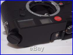 Leica M6 rangefinder 35mm film black camera body. Germany. With Mr. Zhou case