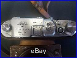 Leica camera 11 m39 DPR no 433370 and accessories ernst leitz wetzlar vintage