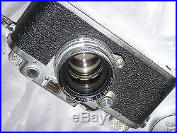 Leica iiic Rangefinder with Summitar 50mm f/2 withcase & instructions
