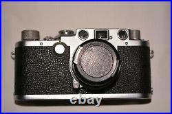 Leica iiif, camera body, 35 mm film, 451gm, made i Germany