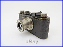 Leitz Leica I schwarz black 1929 No 16449 mit Elmar 3,5/ 50 Vintage lv052