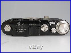 Leitz Leica II Umbau schwarz black sehr schön very nice 81305