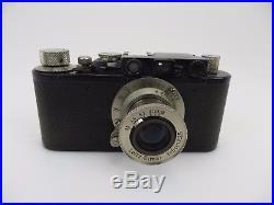 Leitz Leica II schwarz black Nr 74099 mit Elmar 3,5/5 cm wu158