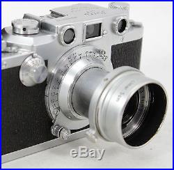 Leitz Leica III c DRP, vintage 35mm rangefinder camera, lens Elmar 3,5/50mm