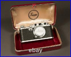 Leitz Leica IIIa, 50mm f3.5 Elmar, Presentation Case, 1938, Near MINT