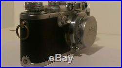 Leitz Leica IIIa D. R. P, vintage 35mm camera, lens Summar f=5cm 12, pre war 1937