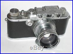 Leitz Leica IIIa IIIA With Summitar 50mm f/2 Lens PERFECT WORKING