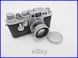 Leitz Leica IIIg Nr 890078 M39 Lens Summicron 1125017 5cm F2 jc105