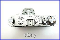Leitz Leica IIf Nr 453685 RF Rangefinder Summitar 5 cm f2 No 505214 jr178